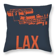 Lax Airport Poster 3 Throw Pillow by Naxart Studio