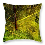 Layers Of Leaves Throw Pillow by Bonnie Bruno
