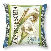 Lazy Daisy Lily 1 Throw Pillow by Debbie DeWitt
