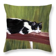 Lazy Day Throw Pillow by Anastasiya Malakhova