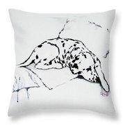 Lazy Day Throw Pillow by Jacki McGovern