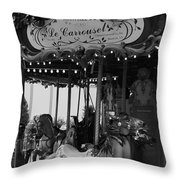 Le Carrousel Throw Pillow by David Rucker
