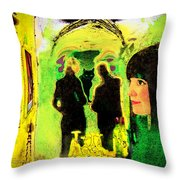 Le Chat Noir Throw Pillow by Chuck Staley