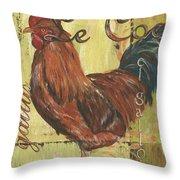 Le Coq Throw Pillow by Debbie DeWitt