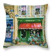 Le Fleuriste Throw Pillow by Marilyn Dunlap