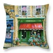 Le Fleuriste Throw Pillow by Marilyn Dunlap