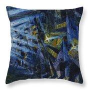 Le Forze Di Una Strada Throw Pillow by Umberto Boccioni