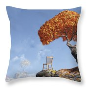 Leaf Peepers Throw Pillow by Cynthia Decker