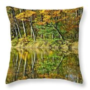Leaning Trees Throw Pillow by Frozen in Time Fine Art Photography