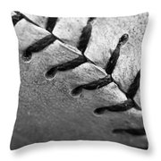 Leather Scars Throw Pillow by Charles Dobbs