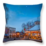 Leavenworth Christmas Moon Throw Pillow by Inge Johnsson