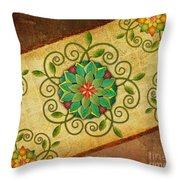 Leaves Rosette 1 Throw Pillow by Bedros Awak