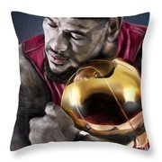Lebron James - My Way Throw Pillow by Reggie Duffie