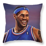 Lebron James  Throw Pillow by Paul Meijering