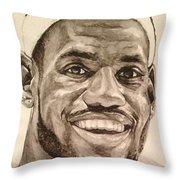 Lebron James Throw Pillow by Tamir Barkan