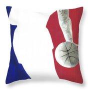 Lebron NBA Logo Throw Pillow by Tamir Barkan