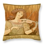 Lecons De Violon Throw Pillow by Gianfranco Weiss