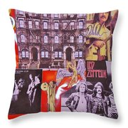 Led Zeppelin  Collage Number Two Throw Pillow by Donna Wilson