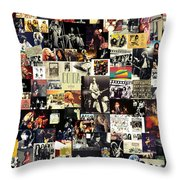 Led Zeppelin Collage Throw Pillow by Taylan Soyturk