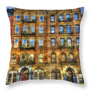 Led Zeppelin Physical Graffiti Building In Color Throw Pillow by Randy Aveille