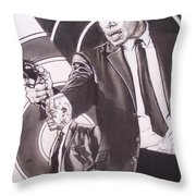 Lee Marvin - Point Blank Throw Pillow by Sean Connolly