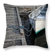 Left At The Dock Throw Pillow by Karol Livote