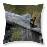 Left Behind At The Marsh Throw Pillow by Denyse Duhaime