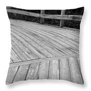 Left Turning Throw Pillow by Allan Morrison