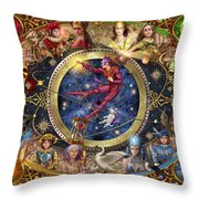 Legacy of the Divine Tarot Throw Pillow by Ciro Marchetti