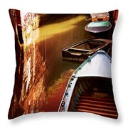 Legata Nel Canale Throw Pillow by Micki Findlay