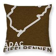 Legendary Races - 1927 Eifelrennen Throw Pillow by Chungkong Art