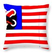 LEGO AMERICAN FLAG Throw Pillow by ADSPICE STUDIOS