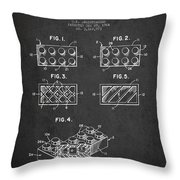 Lego Toy Building Element Patent - Dark Throw Pillow by Aged Pixel