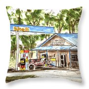 Leipers Fork Market Throw Pillow by Tim Ross