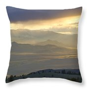 Lemhi Valley Light Throw Pillow by Idaho Scenic Images Linda Lantzy
