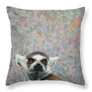 Lemur Throw Pillow by James W Johnson