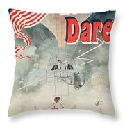 Leona Dare Throw Pillow by Jules Cheret