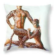 Leopard People Throw Pillow by Andrew Farley