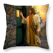 Let Him In Throw Pillow by Greg Olsen