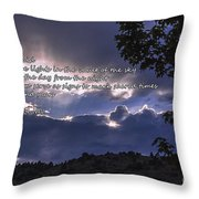 Let There Be Light Throw Pillow by Janice Rae Pariza
