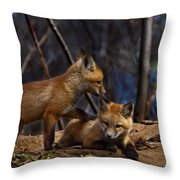 Lets Play Together Throw Pillow by Thomas Young