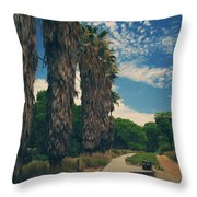 Let's Walk This Path Together Throw Pillow by Laurie Search