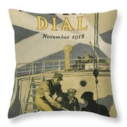 Letters to Our Boys in France Throw Pillow by Edward Hopper