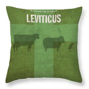 Leviticus Books Of The Bible Series Old Testament Minimal Poster Art Number 3 Throw Pillow by Design Turnpike