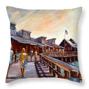 Libby And Friend Libby And Friend Throw Pillow by Charles Munn