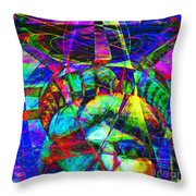 Liberty Head Abstract 20130618 square Throw Pillow by Wingsdomain Art and Photography