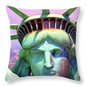 Liberty Head Painterly 20130618 Throw Pillow by Wingsdomain Art and Photography