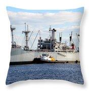 Liberty Ship  Throw Pillow by David Lee Thompson