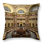 Library Of Congress Throw Pillow by Mountain Dreams