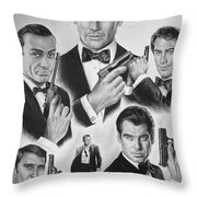 Licenced To Kill  Bw Throw Pillow by Andrew Read